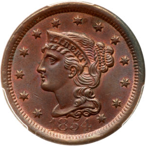 Large Cent 1840-1857 Braided Hair