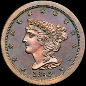 Half Cent 1839-1857 Braided Hair